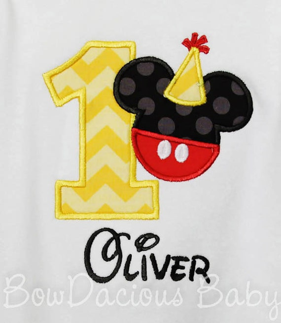 Mickey Mouse Birthday Shirt Number Boys