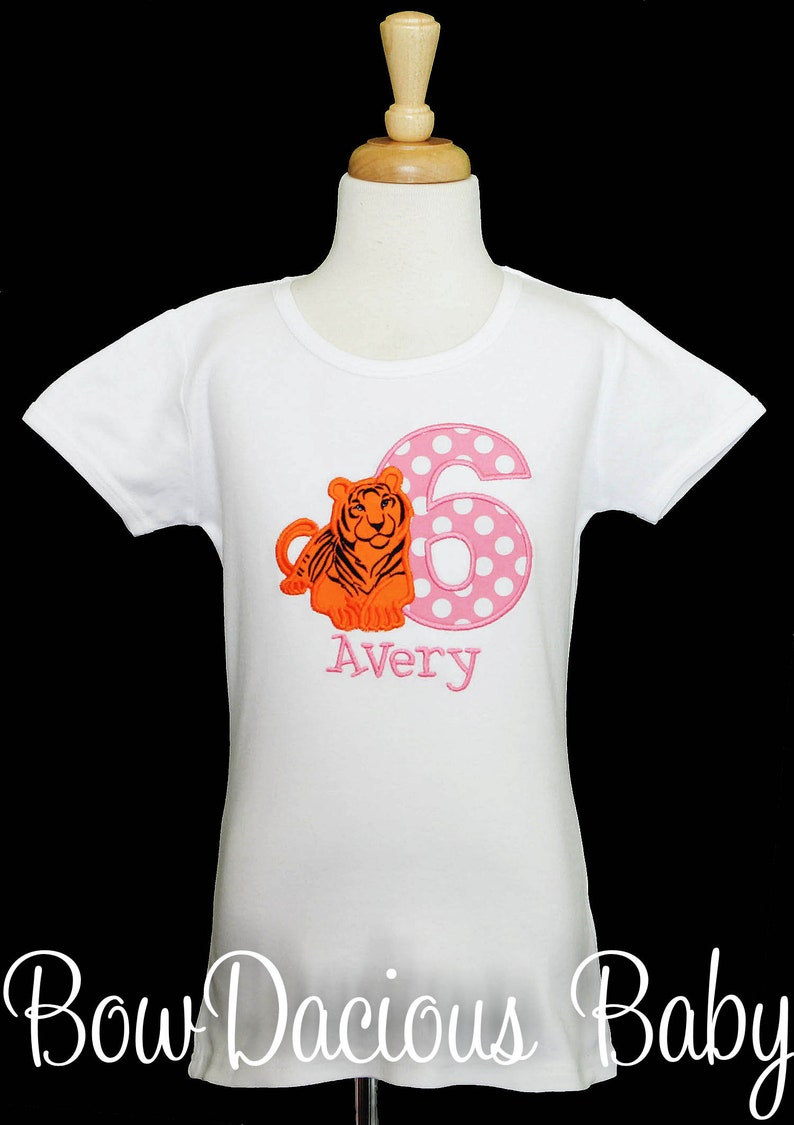Custom Any Age and Colors Tiger Birthday Shirt