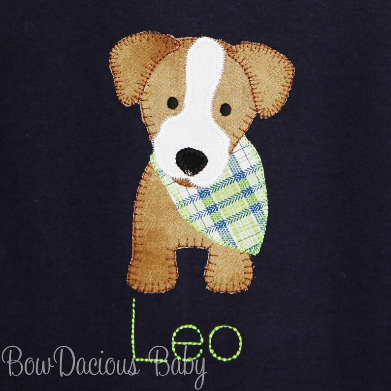 Personsonalized Romper Boys Puppy Romper Custom Colors Boys Summer Outfit Puppy Outfit Baby Shower Gift