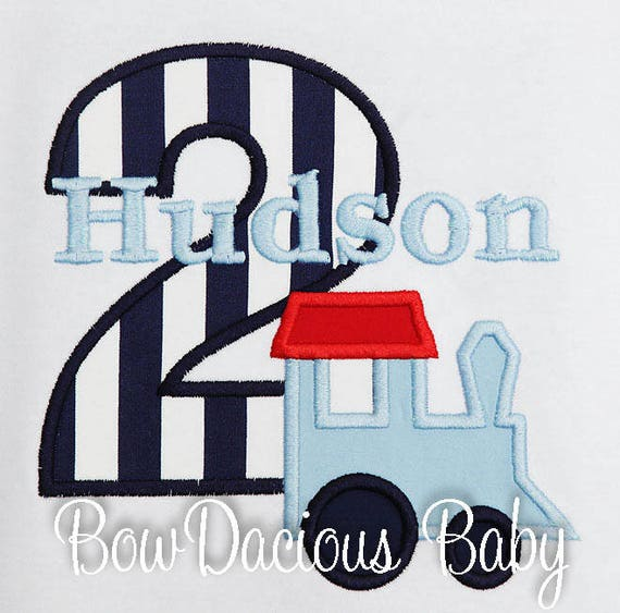 Train Birthday Shirt Boys Toddler Number Personalized Custom 2nd
