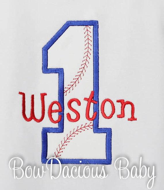 Boys Baseball Birthday Shirt Personalized Or Bodysuit Custom Gift Any Age