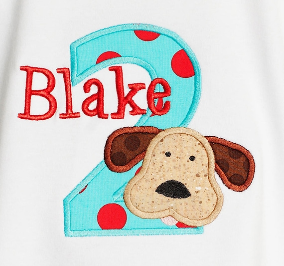 Personalized Dogs Birthday Shirt Or Bodysuit Custom Colors With ANY Name And Age