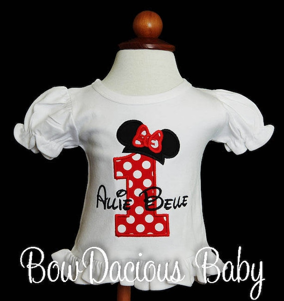 Minnie Mouse Birthday Number Shirt