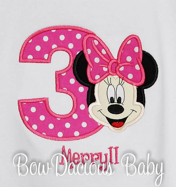 37ecb1dd Minnie Mouse Birthday Shirt, Personalized, Custom Colors, Any Age by ...