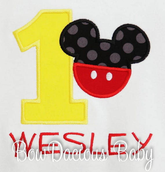 Mickey Mouse Birthday Shirt Number Minnie