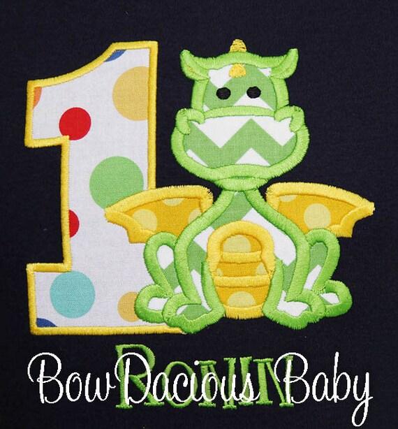 Boys Birthday Dragon Shirt Boy Or Bodysuit Custom Baby First Party