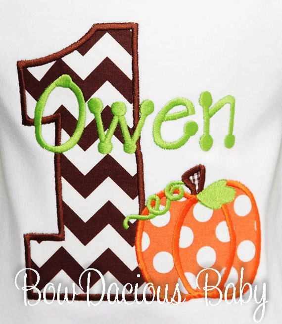 Fall Pumpkin Birthday Shirt Boy Our Little