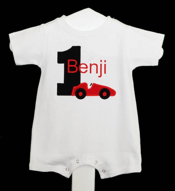 9b946b8cb5220 Race Car Romper, Race Car 1st Birthday Outfit, Race Car Birthday Romper, Boy  First Birthday Outift, First Birthday Romper, Custom Romper