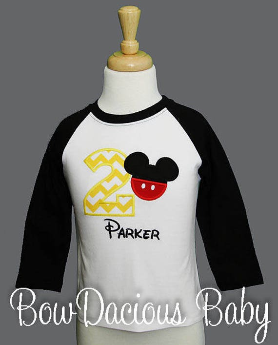 Mickey Mouse Birthday Shirt Number
