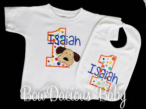 Boy Birthday Shirt And Bib Personalized