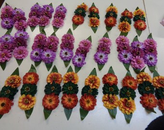 30  sets of vintage bunches of 3 millinery flowers