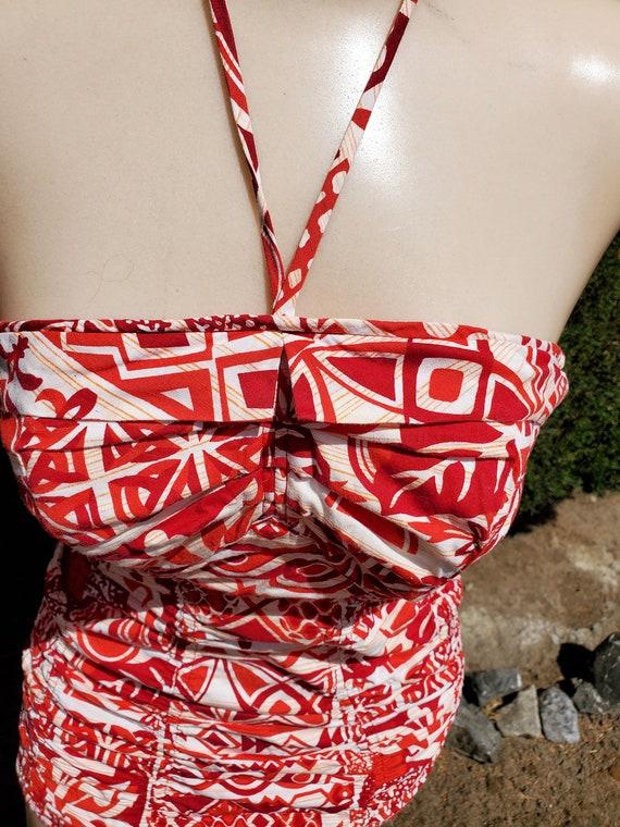 RARE Vintage 50's Red Tiki Surfriders Swimsuit - image 2