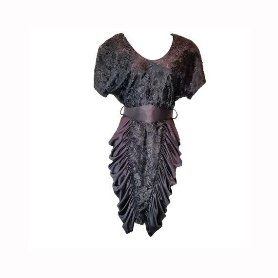80's Breakin' Loose Black Lace Prom Formal Dress