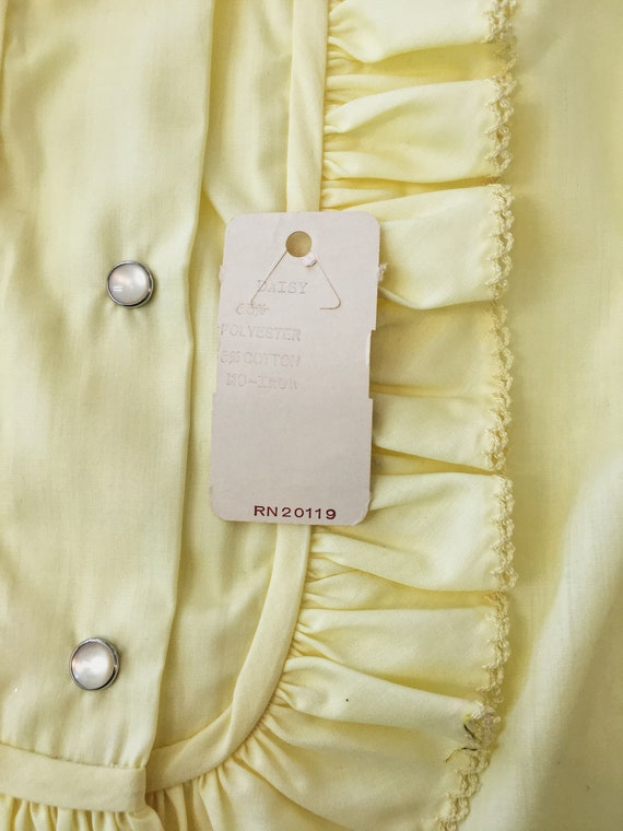1970/'s New With Tag H Bar C Ranch Wear Daisy Yellow Ruffle Western Blouse