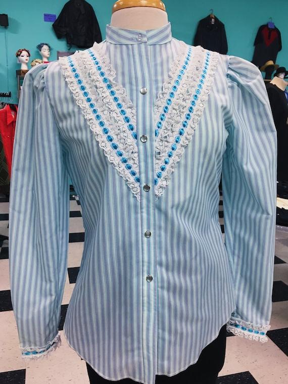 1970's H Bar C California Ranchwear Striped Wester