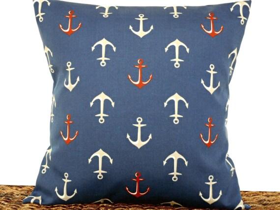 Anchors Outdoor Pillow Cover Cushion, Outdoor Anchor Pillow
