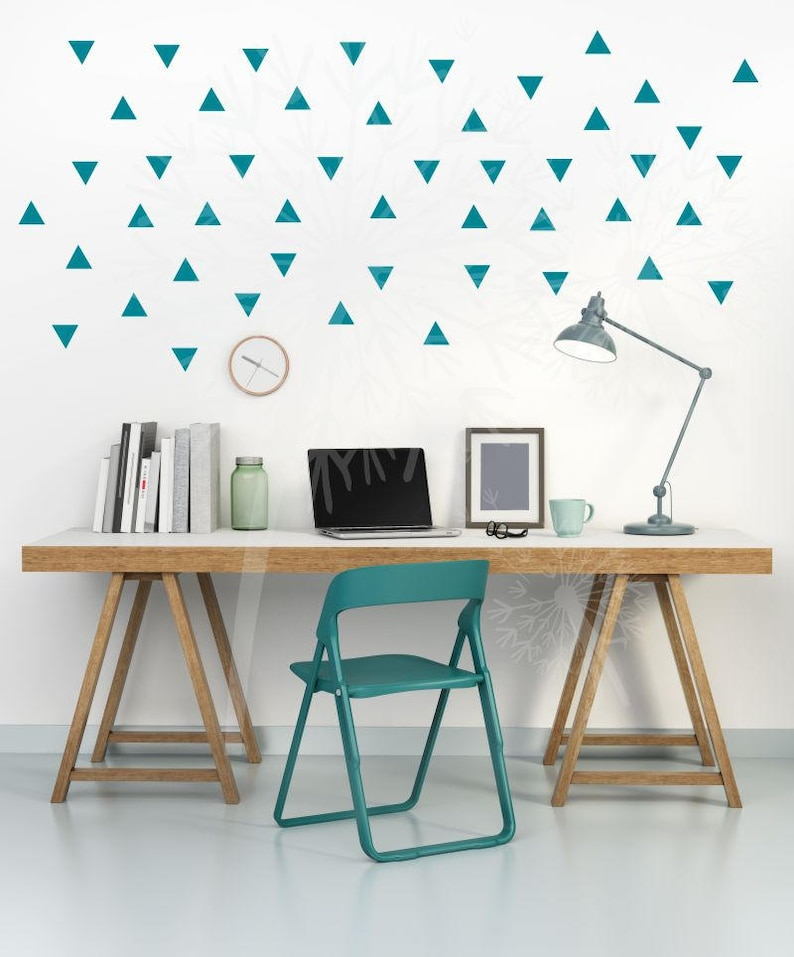 Tiny Triangle Wall Decals Vinyl Sticker Shpaes Peel N Stick Easy Fun Wall Decor 96 Tiny Triangle Stickers