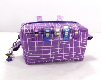 Pick Up Sticks! Boxy Clip Container, Zippered Pouch, Quilt Clip Holder, Sold With or without Clips! Ready to Ship