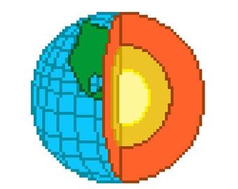 Earth Core Cross Stitch Pattern