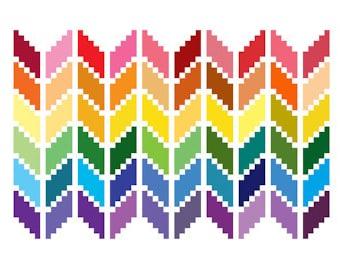 Chevron Cross Stitch Pattern