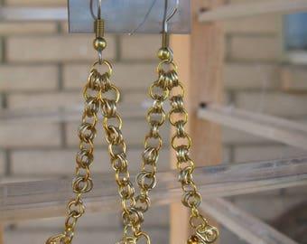 Topaz Swarovski Filigree-Gold Plated