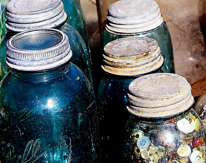 Jars Fine Art Giclee Print on Paper Canvas or Wood by Brenda Salyers by Brenda Salyers