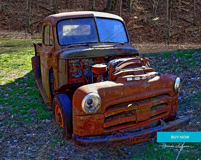 Done Dodge Farmers Kentucky  Fine Art Giclee Print on Paper Canvas or Wood by Brenda Salyers by Brenda Salyers
