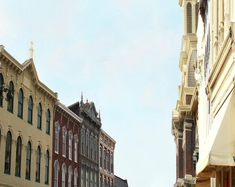 East Main St Georgetown Kentucky Small Town Giclee Print on Fine Art Paper Canvas or Wood by Brenda Salyers by Brenda Salyers