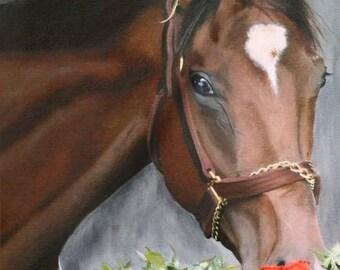 Barbaro, Kentucky Derby Winner 2006 Churchhill Downs Giclee Print on Fine Art Paper Canvas or Wood by Brenda Salyers by Brenda Salyers