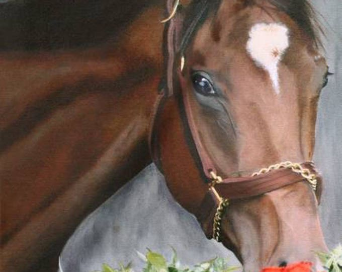 Barbaro, Kentucky Derby Winner 2006 Churchhill Downs Giclee Print on Fine Art Paper Canvas or Wood by Brenda Salyers by Brenda Salyers