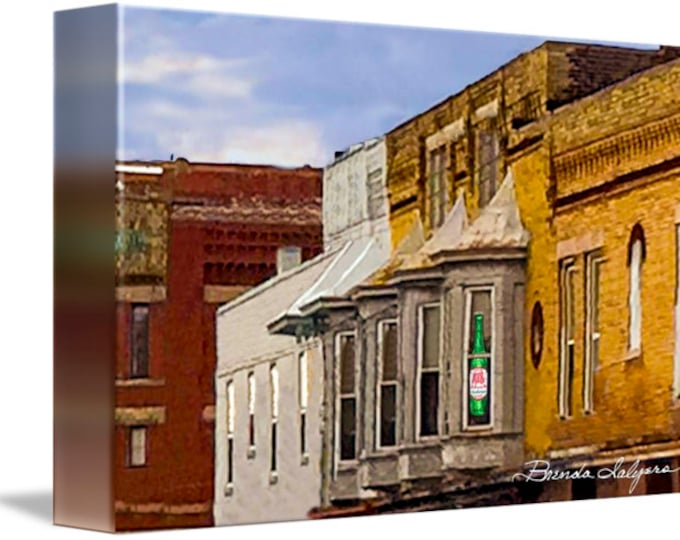 Window on Broadway Winchester Kentucky Fine Art Giclee Print on Paper Canvas or Wood by Brenda Salyers by Brenda Salyers