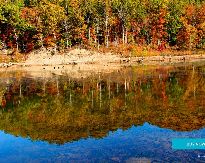 Reflections at Cave Run Lake Morehead Kentucky Fine Art Giclee Print on Paper Canvas or wood by Brenda Salyers by Brenda Salyers