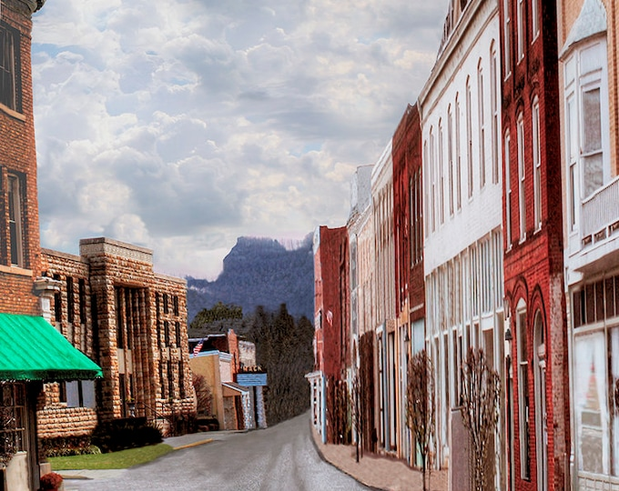 Irvine Kentucky by Brenda Salyers, Fine Art Giclee Print on Paper Canvas or Wood by Brenda Salyers by Brenda Salyers