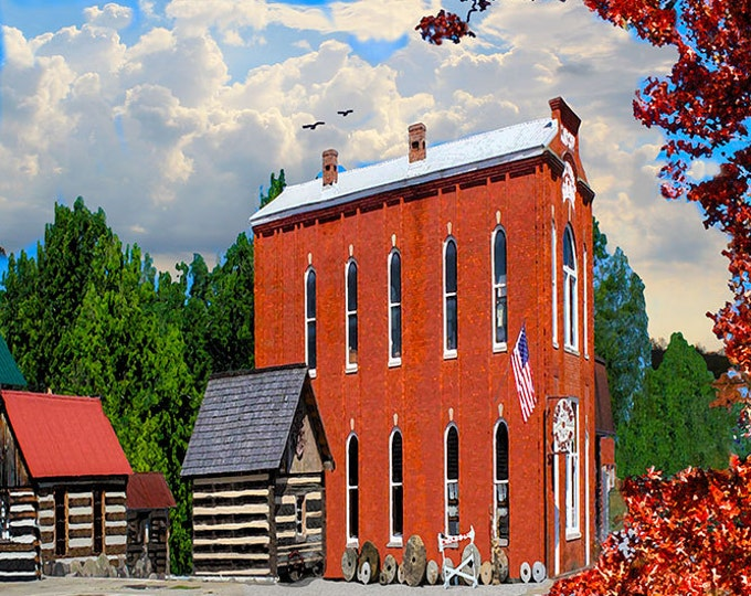 Kentucky, Clay City, Small Town, Giclee Print on Fine Art Paper or Canvas