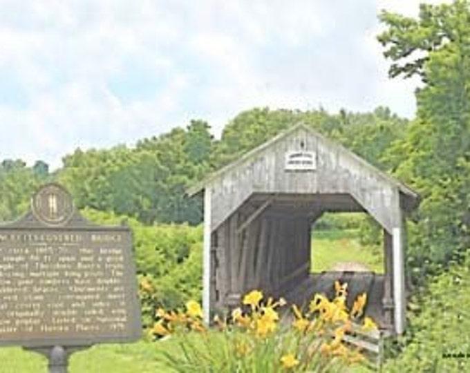 Grange City Covered Bridge, Kentucky Giclee Print On Fine Art Paper Canvas or Wood by Brenda Salyers by Brenda Salyers