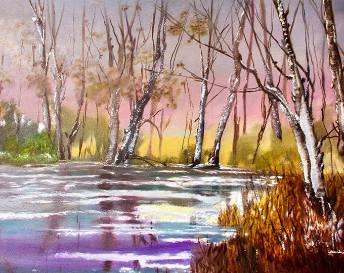 Kentucky, Wintertime N  Giclee Print on Fine Art Paper or Canvas