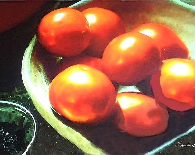 Kentucky Tomato's Red Ripe, Fine Art Print on Paper or Canvas