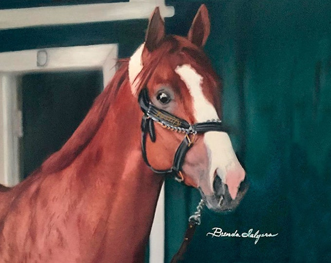 Triple Crown Winner Justify,  Kentucky Derby, Belmont, Preakness Winner Prints on Fine Art Paper or Canves,