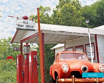 Old Pine Grove Grocery Winchester Kentucky Fine Art Giclee Print on Paper Canvas or wood by Brenda Salyers by Brenda Salyers