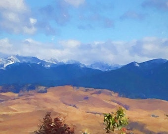 Mountains Fine Art Print on Paper Canvas or Wood by Brenda Salyers by Brenda Salyers