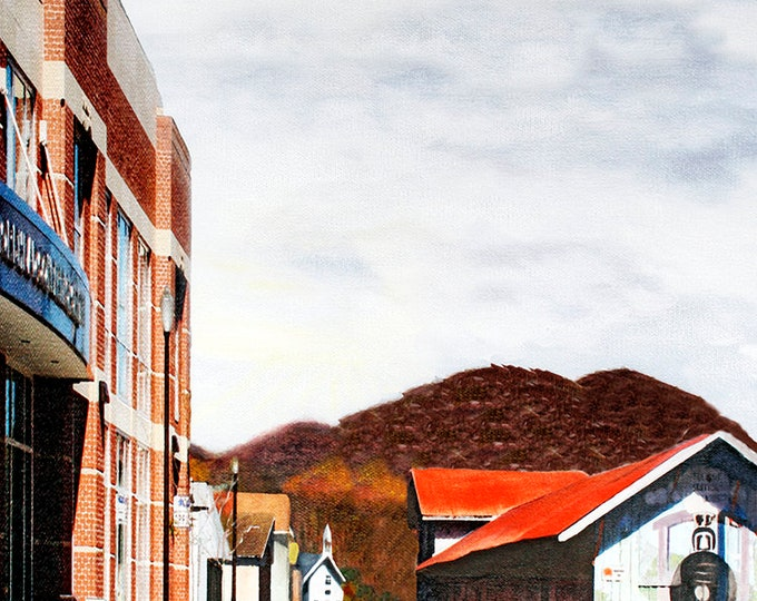 Morehead Kentucky First Street, Giclee Print on Fine Art Paper Canvas or Wood by Brenda Salyers by Brenda Salyers