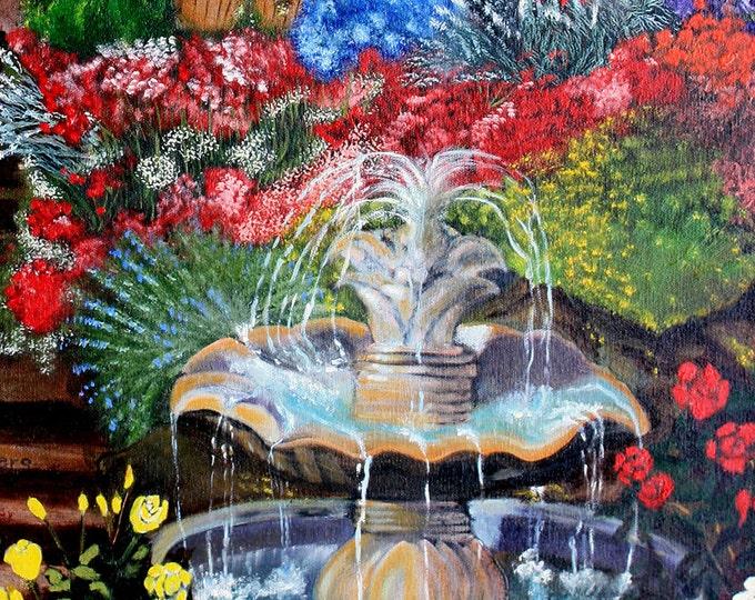 Kentucky Hillside Garden Fine Art Print on Paper, Custom Canvas or Framed Orders Welcome, Just Contact us