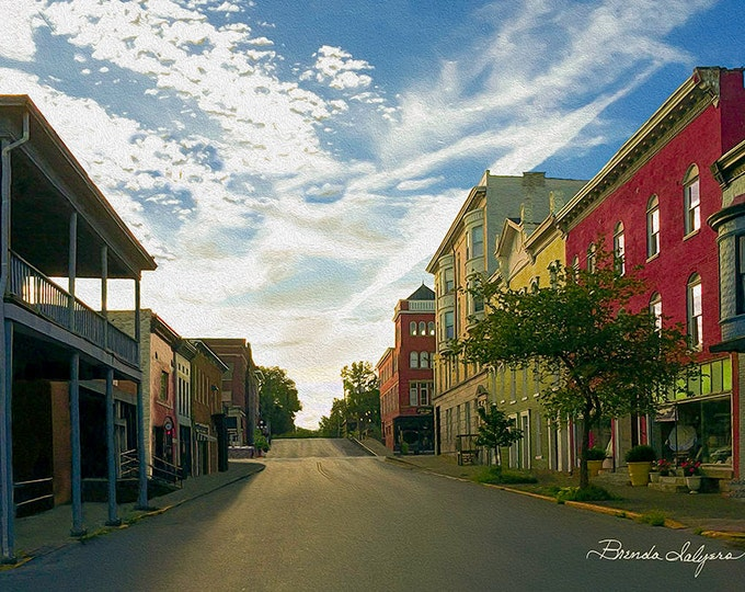 West Lexington Ave. Winchester Kentucky Fine Art Giclee Print on Paper Canvas or Wood by Brenda Salyers by Brenda Salyers