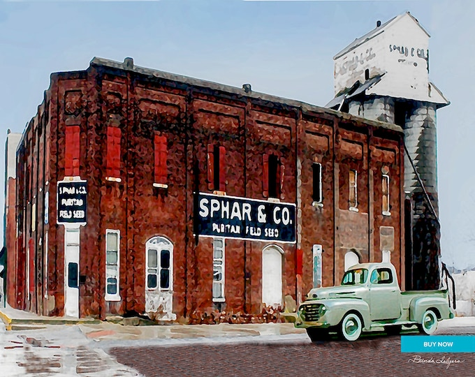 Sphar Building Winchester Kentucky Giclee Print on Fine Art Paper Canvas or Wood by Brenda Salyers by Brenda Salyers
