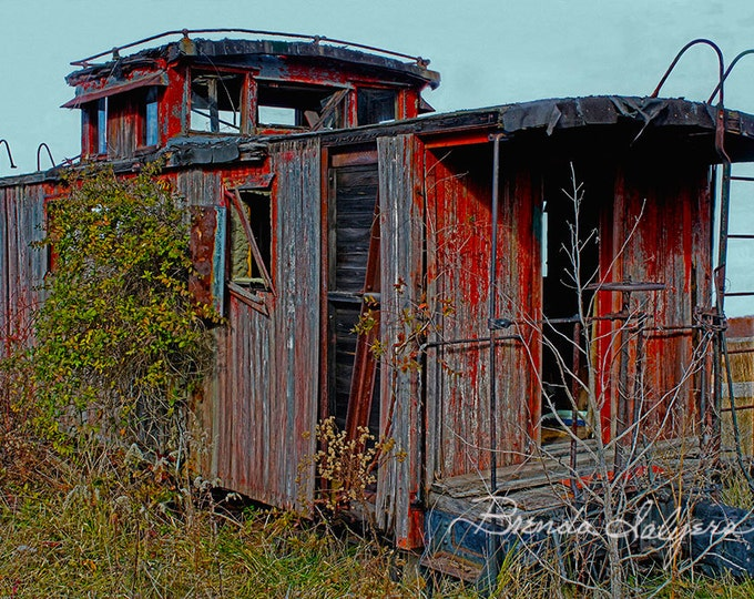 Kentucky, Abandoned Caboose Farmers  Giclee Print on Fine Art Paper or Canvas