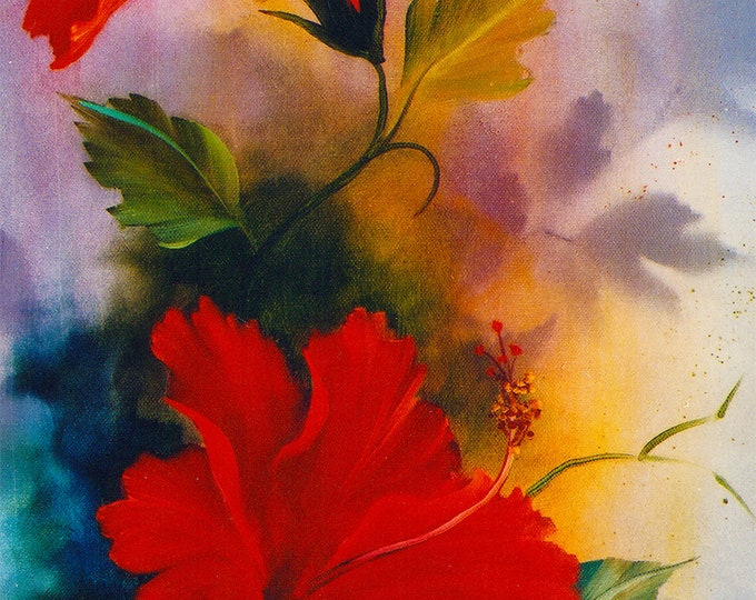 Hibiscus Giclee print on Archival Fine Art Paper or Canvas