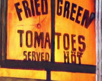Outside In, Giclee Print on Fine Art Paper Canvas or Wood  Fried Green Tomato's Series of 5 by Brenda Salyers by Brenda Salyers
