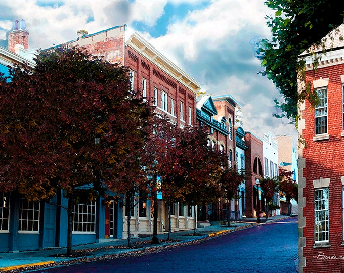 mt Sterling Court street, by Brenda Salyers Giclee Print on Fine Art Paper or Canvas, Custom or Framed Orders Welcome