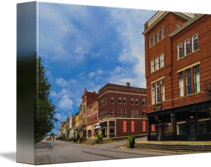 Lexington Ave and Main Street Winchester Kentucky Fine Art Giclee Prints on Canvas Paper or Wood by Brenda Salyers by Brenda Salyers