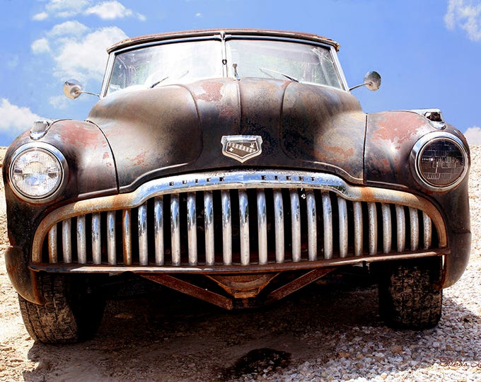 Buick Says Bring it On, by Brenda Salyers, Fine Art Giclee Print on Paper or Canvas, Custom or Framed Orders Welcome